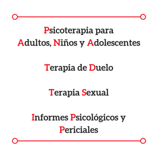 APM Psicologia y Periciales, Psicoterapia para adultos, niños y adolescentes, terapia de duelo, terapia sexual, informes psicológicos y periciales